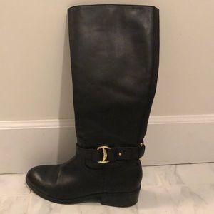 Ralph Lauren black Micah leather tall boots. EUC!